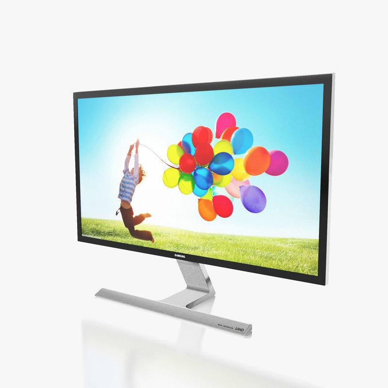 3d model monitor samsung u28d590d