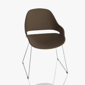 zanotta chair eva 3d max
