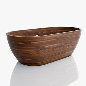 max wooden bathtub