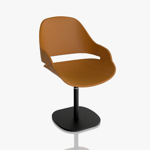 3d zanotta chair eva 2269 model