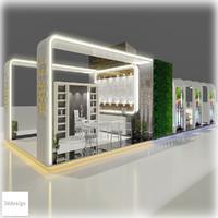 3d exhibition 107 model