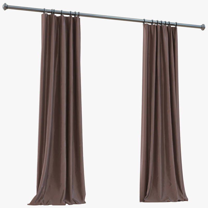 3d model of curtain 5 brown