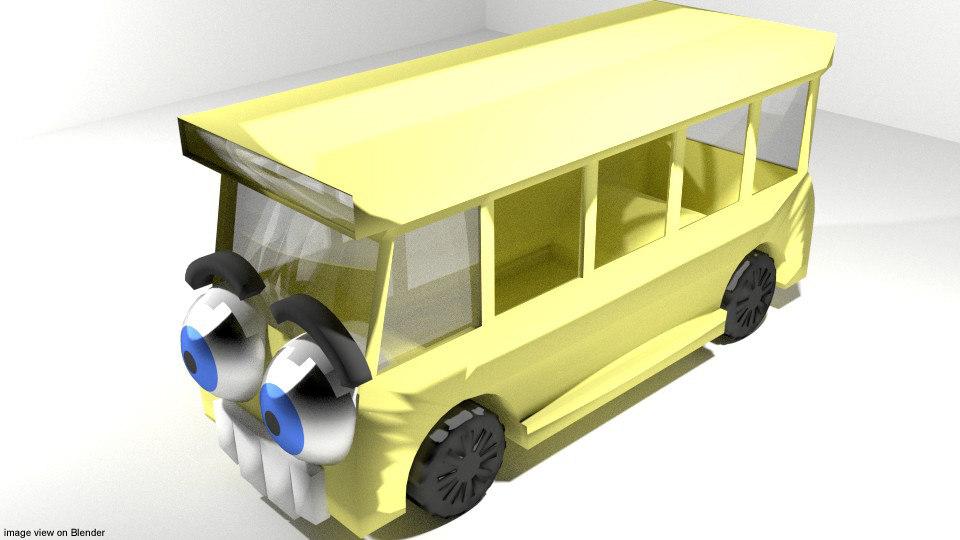 3dsmax cartoon toon vehicle