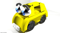 3d cartoon toon car model