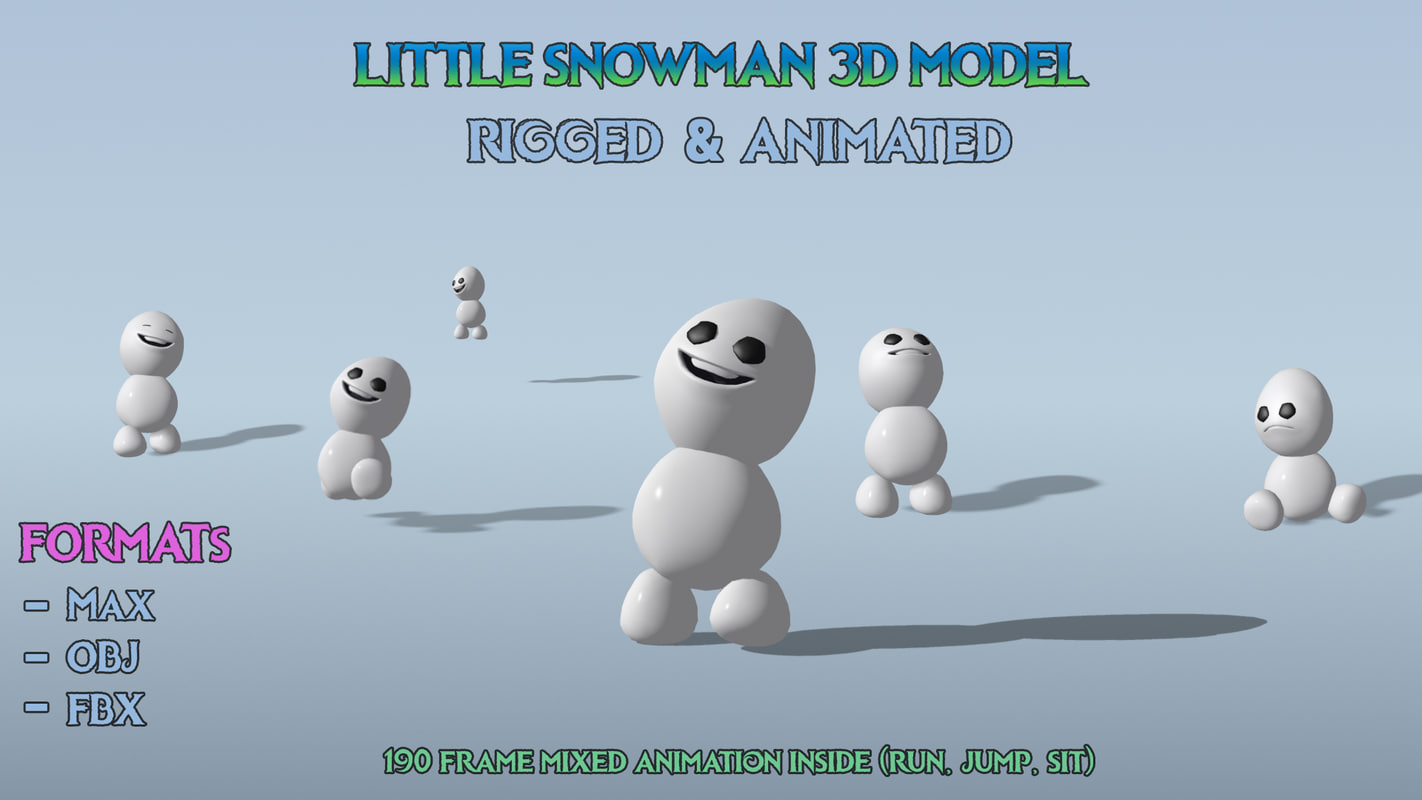 little snowgie modeled 3d max