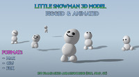 CARTOON SNOWMAN SNOWGIE 3D MODEL