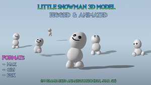 little snowgie modeled 3d max
