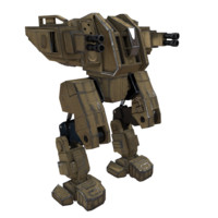 3d model of ready mech renegat