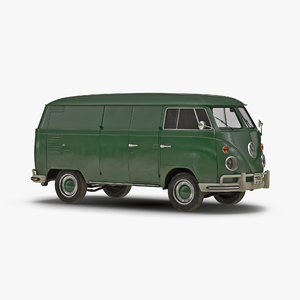 volkswagen type 2 panel 3d c4d