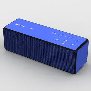 sony srs-x33 blue bluetooth 3d model
