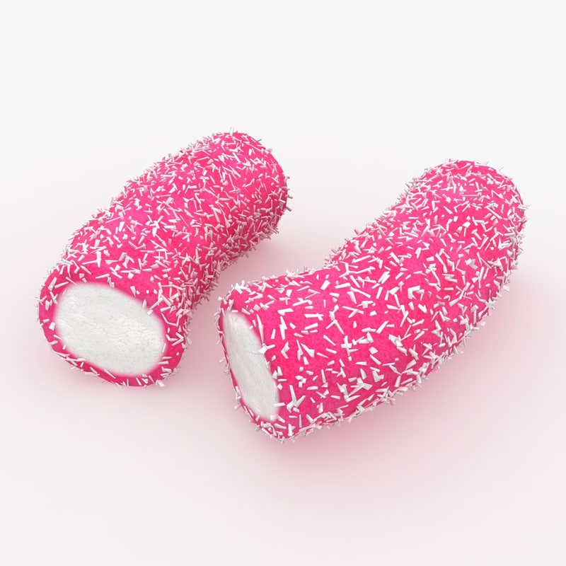 max realistic coconut candy pink