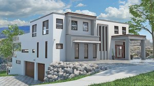 3d max house modelled -