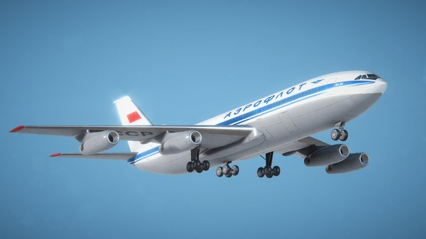 max low-poly il-86 pbr