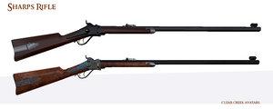 3d model of sharps rifle