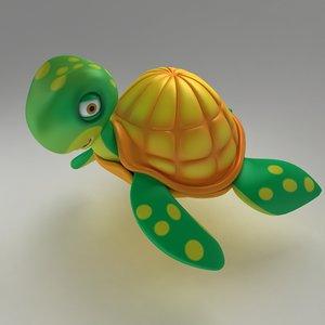 3d model cute turtle