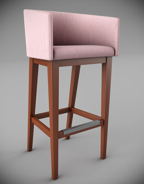 albert sgcl barstool 3d model