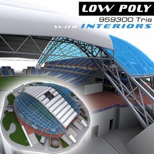 fisht olympic stadium 3d model