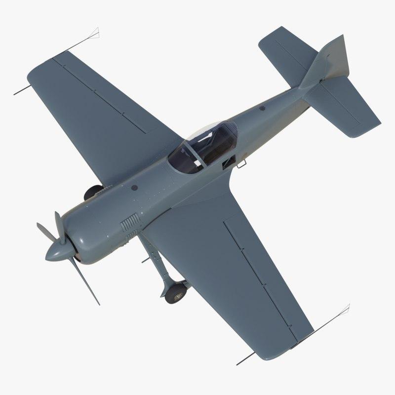 sukhoi su-31 aerobatic aircraft 3d obj