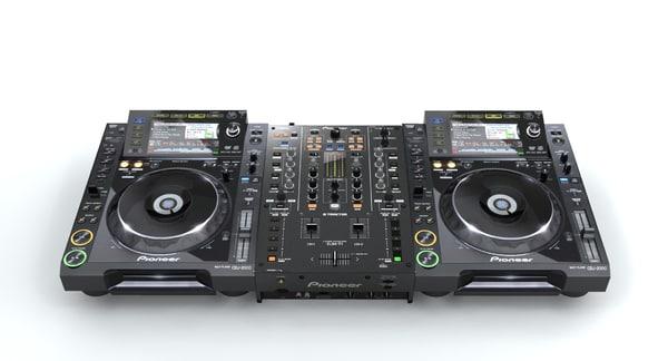 3d model of pioneer djm t1