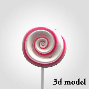 3ds max lollipop candy