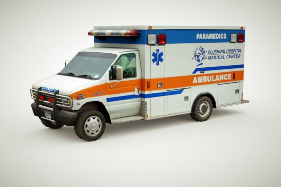 3d model generic ambulance games