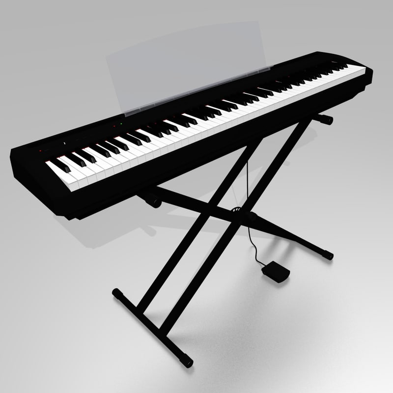 3dsmax stage piano