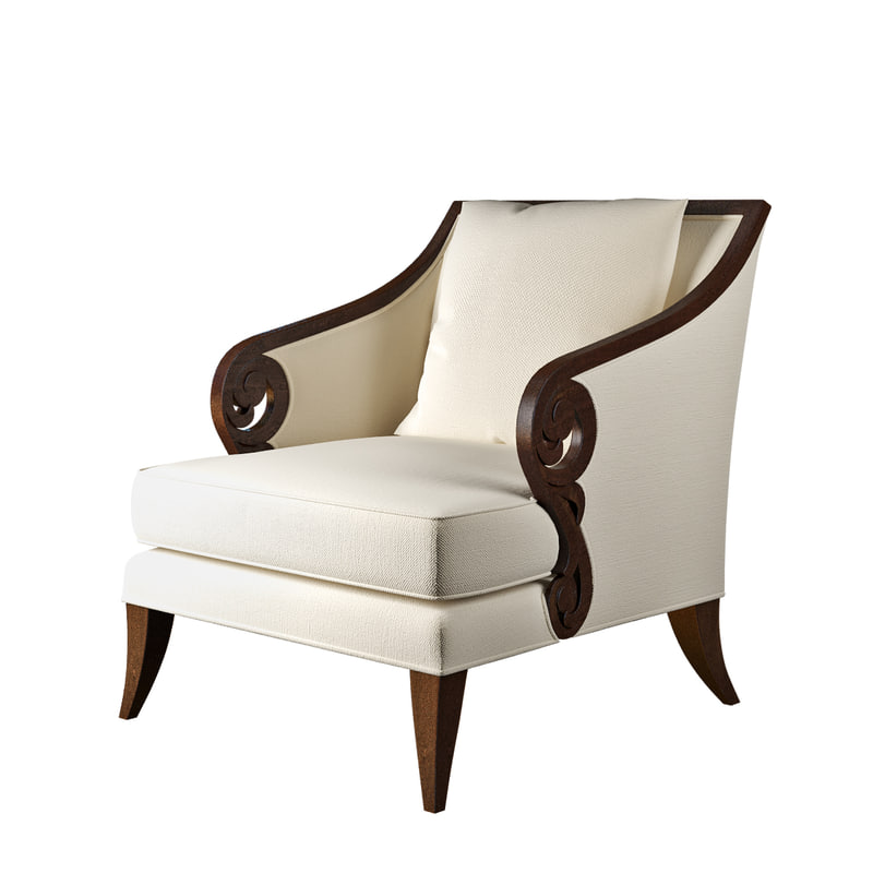3d model christopher guy jude chair