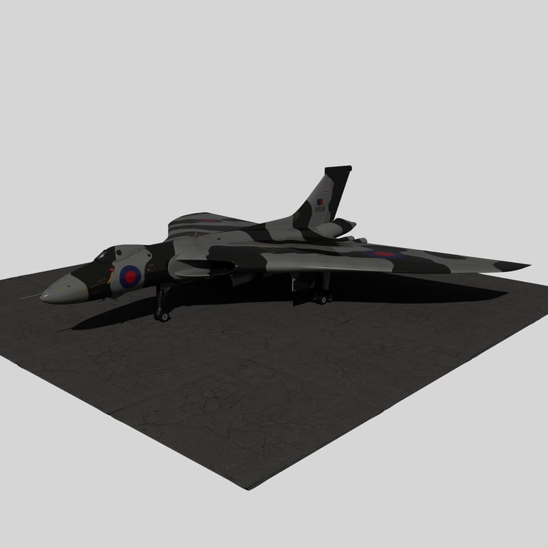 3d vulcan xh558 model