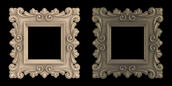 3d artistic picture frame model