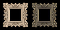 artistic picture frame 3d model