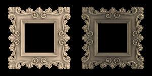 3d artistic picture frame model