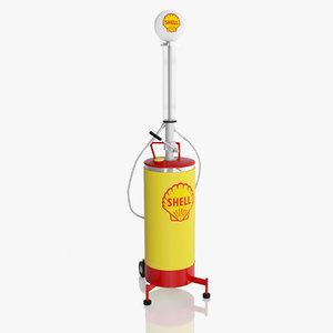 3ds shell retro pump