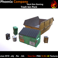 Low Poly Trash Pack 4K