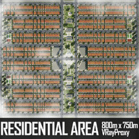 3d residential urban area