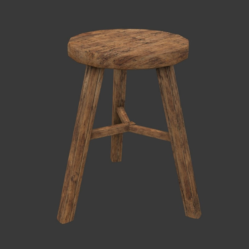 3d ancient stool - model