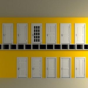 portal door traditional 3d model