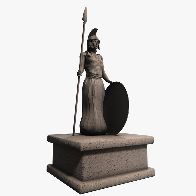 3ds max stone greek statue