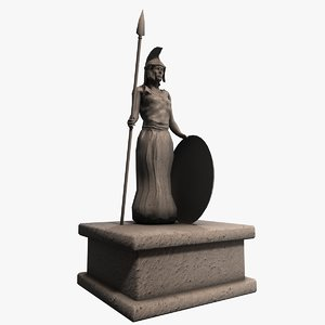 3ds max stone greek statue