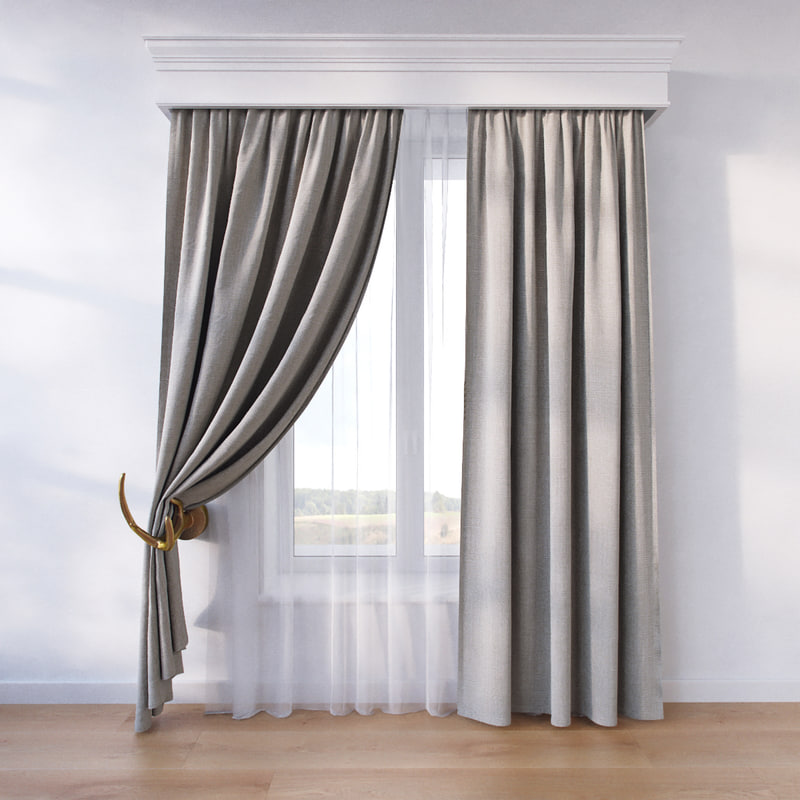 window curtain fbx
