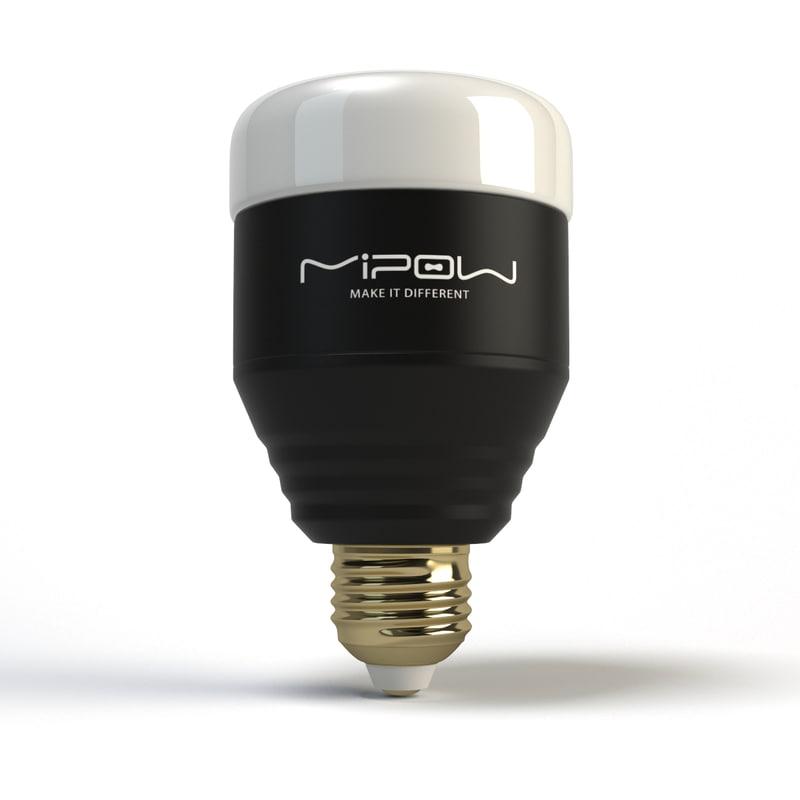 3d mipow smart led lightbulb model