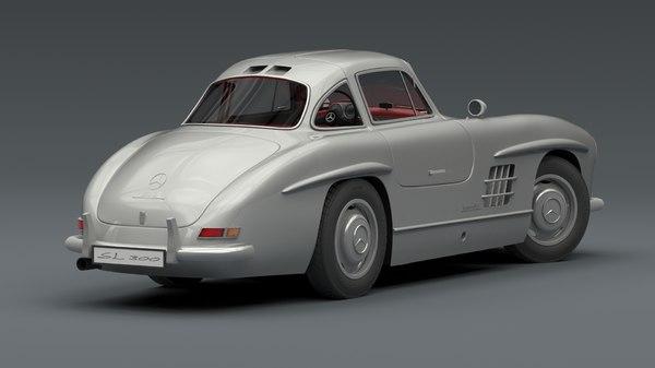 mercedes-benz 300 sl 1955 3d model