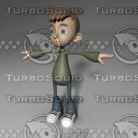 boy cartoon 3d obj