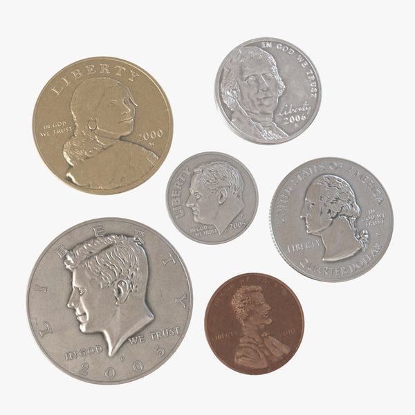 coins united states 3d model