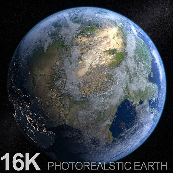 earth sun c4d