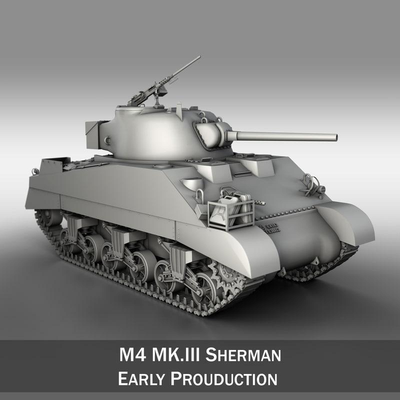 3ds max m4 sherman iii -