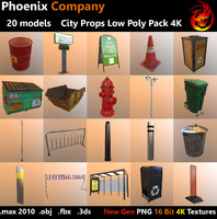 City Props Low Poly Pack 4K