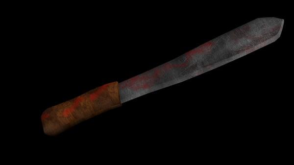 machete 3d model