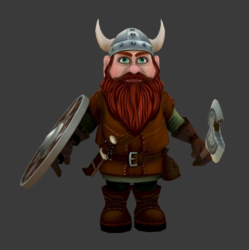 gnome dwarf modelled games 3d max