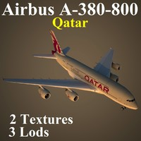 airbus qtr airliner 3d model