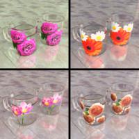 free obj mode glass cups
